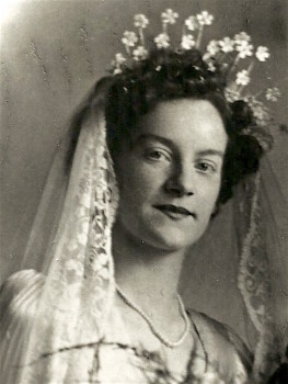 Brenda Martin wedding day 1949